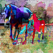Horses Of Different Colors Poster