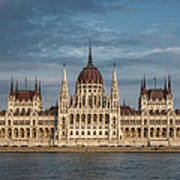 Hungarian Parliament Building Afternoon Poster