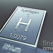 Hydrogen Chemical Element Poster