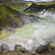 Iceland Steam Valley Poster