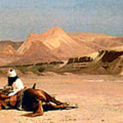 In The Desert Poster by Jean-Leon Gerome