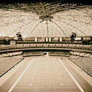 Interior Of The Old Astrodome Poster
