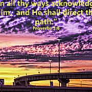 Interstate At Sunrise Poster