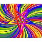Inverted Rainbow Spiral Poster