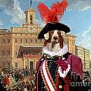 Irish Red And White Setter Art Canvas Print Poster