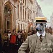 Italian Greyhound Art Canvas Print Poster