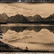 Jackson Lake Wyoming Poster