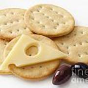 Jarlsberg Cheese And Crackers Poster