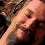 Jeff Bridges As The Dude Poster