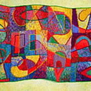 Jigsaw Tapestry Poster by Diane Fine