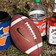 Jim Beam Coke And Football Poster