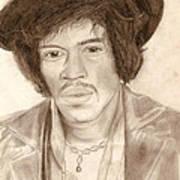 Jimi Hendrix Poster by Michael Mestas