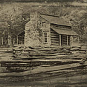 John Oliver Cabin In Cades Cove Poster