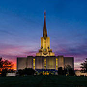 Jordan River Temple Sunset Poster