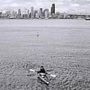 Kayaking Elliot Bay Poster