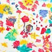 Kid's Artwork Colorful Background Poster