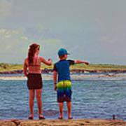 Kids Exploring Poster