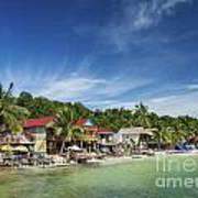Koh Rong Island Beach Bars In Cambodia Poster
