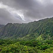 Koolau Waterfalls Poster