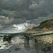 La Pointe De La Heve At Low Tide Poster
