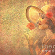 1-lady In The Flower Garden Poster