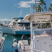Lahaina Marina Maui Hawaii Poster