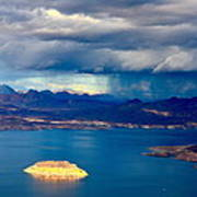 Lake Mead Afternoon Thunderstorm Poster