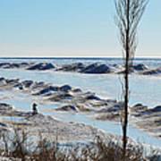 Lake Michigan Ice Poster