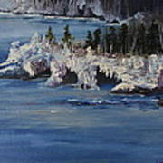 Lake Superior Ice Storm Poster
