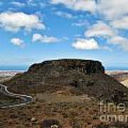 Landscape-canarian Volcanic Mountains Poster