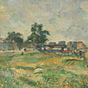Landscape Near Paris Poster