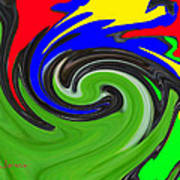 Leaf And Color Abstract Poster