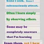 Learning Observation Teacher Student Gratitude Background Designs  And Color Tones N Color Shades Av Poster