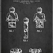 Lego Toy Figure Patent - Dark Poster