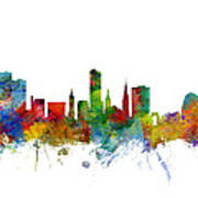 Leicester England Skyline Poster