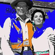 Leif Erickson Linda Cristal The High Chaparral Set Publicity Photo Old Tucson Arizona C. 1967-2012 Poster