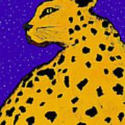 Leopard At Midnight Poster