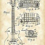 Les Paul Guitar Patent 1953 - Vintage Poster