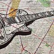 Les Paul On Austin Map Poster by William Cauthern