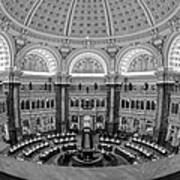 Library Of Congress Main Reading Room Poster by Susan Candelario