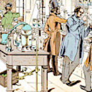 Liebigs Laboratory At Giessen, 1842 Poster