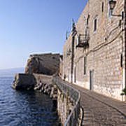 Light And Shadow In Hydra Island Poster