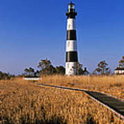 Lighthouse In A Field, Bodie Island Poster