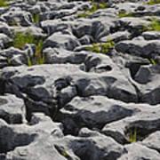 Limestone In The Burren Poster