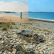 Lloyd's Bathing Beach At Sakonnet Point In Little Compton Ri Poster