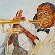 Louis Armstrong 2 Poster by Katie Spicuzza