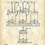 Louis Pasteur Beer Brewing Patent 1873 - Vintage Poster