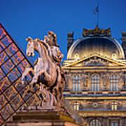Louvre Twilight Poster