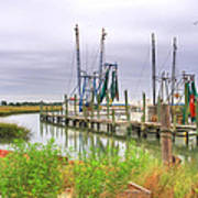 Lowcountry Shrimp Dock Poster