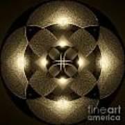 Luminous Mandala Poster